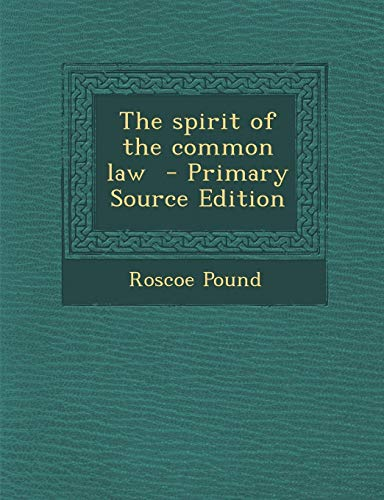 9781293821237: The spirit of the common law