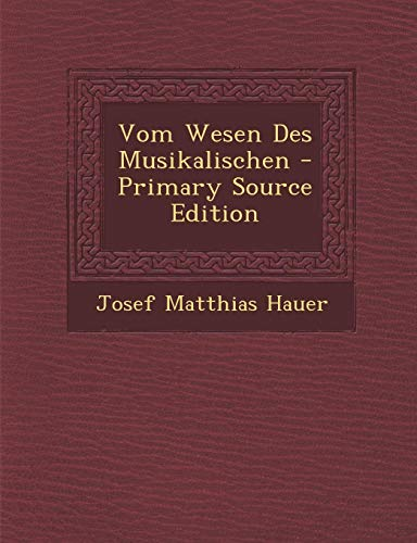 9781293827512: Vom Wesen Des Musikalischen