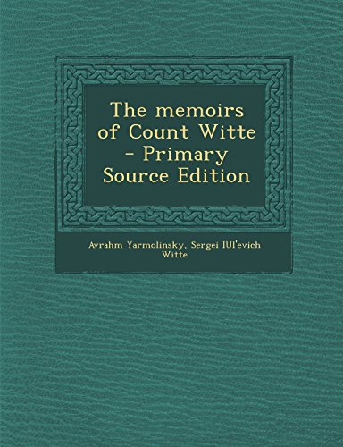 9781293831038: The memoirs of Count Witte