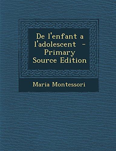 9781293832431: De l'enfant a l'adolescent (French Edition)