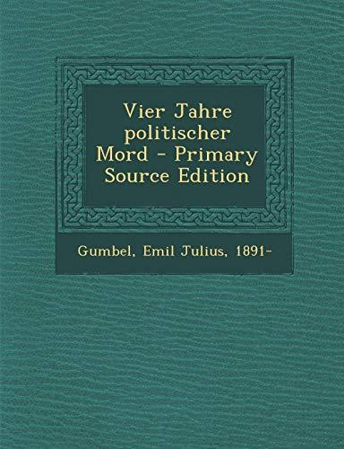 9781293832691: Vier Jahre politischer Mord (German Edition)