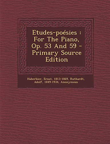 9781293847879: Etudes-poésies: For The Piano, Op. 53 And 59