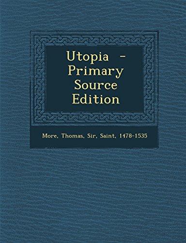 9781293858318: Utopia - Primary Source Edition