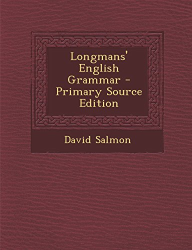 9781293932704: Longmans' English Grammar