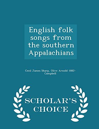 9781293986646: English folk songs from the southern Appalachians - Scholar's Choice Edition