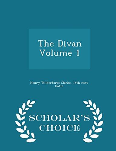 9781293996409: The Divan Volume 1 - Scholar's Choice Edition