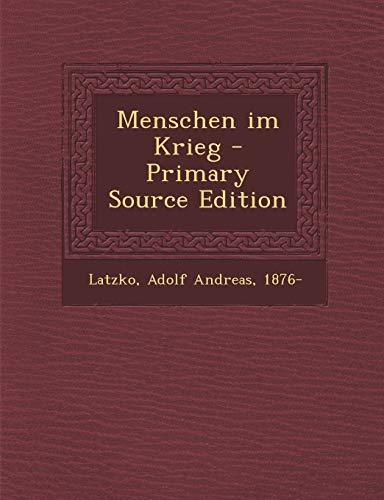 9781294045687: Menschen im Krieg (German Edition)