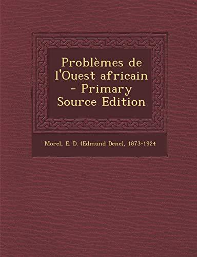 9781294057000: Problemes de L'Ouest Africain