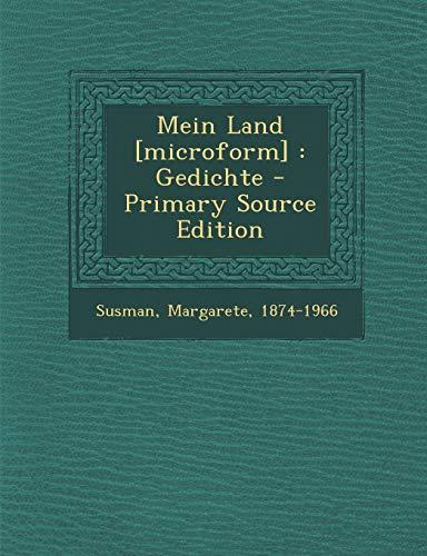 9781294091882: Mein Land [microform]: Gedichte