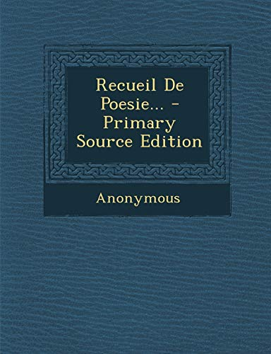 9781294184430: Recueil de Poesie...