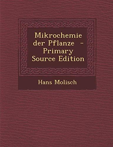 9781294336150: Mikrochemie der Pflanze