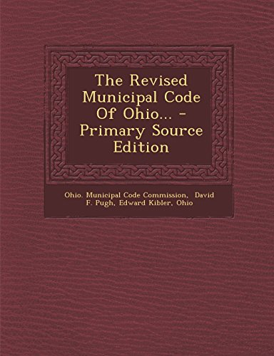 9781294372189: The Revised Municipal Code Of Ohio...