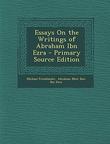 9781294427483: Essays On the Writings of Abraham Ibn Ezra