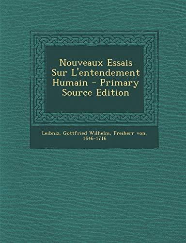 9781294469438: Nouveaux Essais Sur L'Entendement Humain