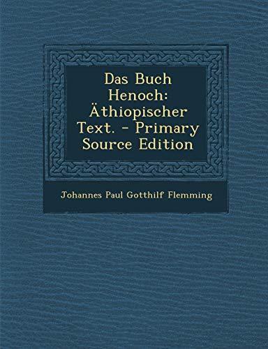 9781294473657: Das Buch Henoch: Äthiopischer Text.