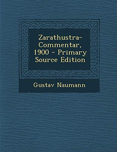 9781294475460: Zarathustra-Commentar, 1900 (German Edition)