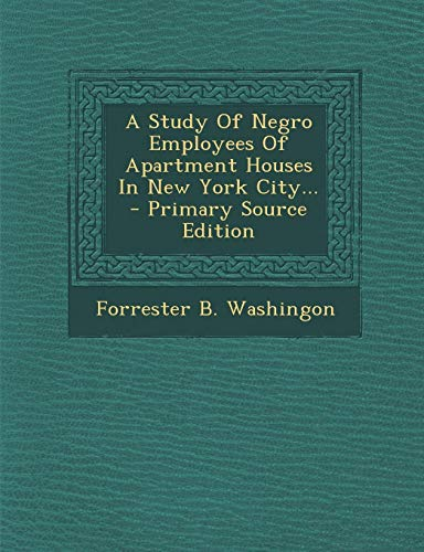 A Study of Negro Employees of Apartment
