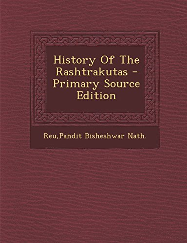 9781294542469: History Of The Rashtrakutas