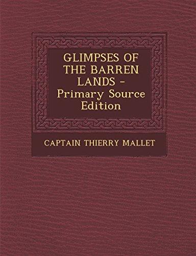 9781294543633: GLIMPSES OF THE BARREN LANDS
