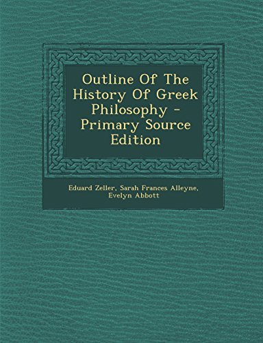 9781294544159: Outline Of The History Of Greek Philosophy