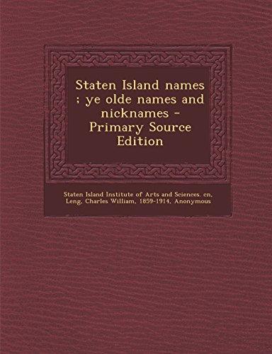 9781294545736: Staten Island names ; ye olde names and nicknames