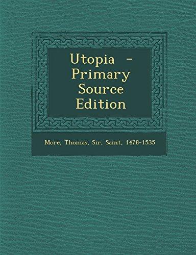 9781294560197: Utopia - Primary Source Edition