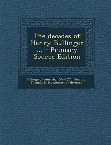 9781294563501: The decades of Henry Bullinger ...