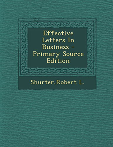 9781294646624: Effective Letters In Business