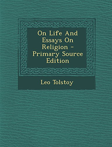 9781294659716: On Life And Essays On Religion