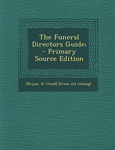 9781294662839: The Funeral Directors Guide;