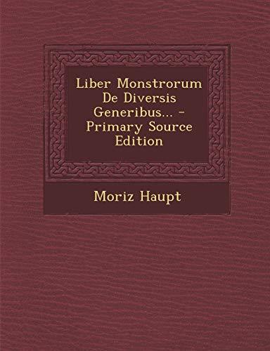 9781294677208: Liber Monstrorum De Diversis Generibus... (Latin Edition)