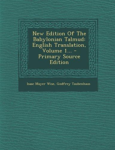 9781294681199: New Edition Of The Babylonian Talmud: English Translation, Volume 1...