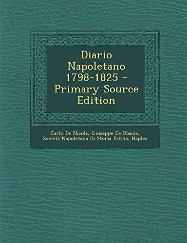 9781294691648: Diario Napoletano 1798-1825