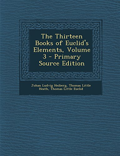 9781294720683: The Thirteen Books of Euclid's Elements, Volume 3