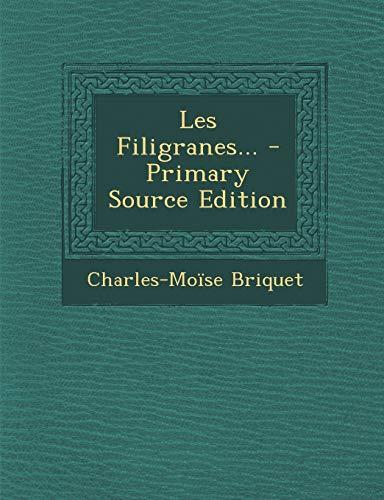 9781294727729: Les Filigranes...