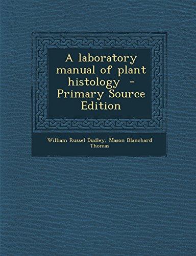 9781294787037: A laboratory manual of plant histology