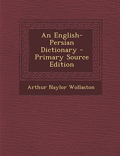 9781294817086: An English-Persian Dictionary