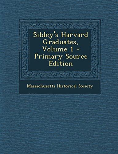 9781294852599: Sibley's Harvard Graduates, Volume 1