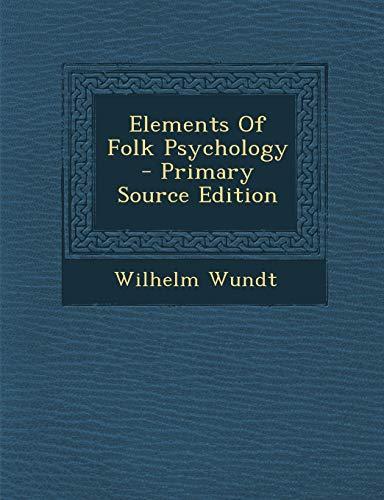 9781295033553: Elements Of Folk Psychology