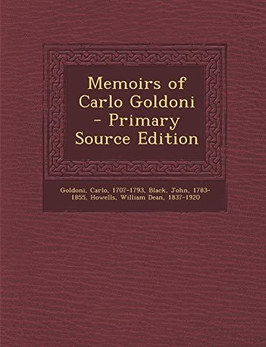 9781295044306: Memoirs of Carlo Goldoni