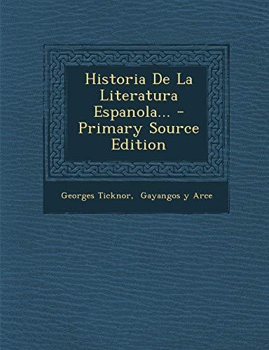 9781295106165: Historia De La Literatura Espanola... (Spanish Edition)