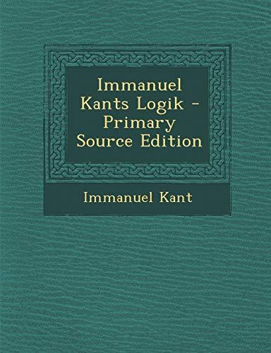 9781295122127: Immanuel Kants Logik