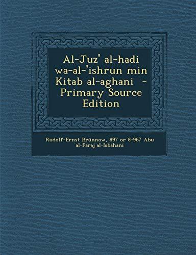 Al-Juz Al-Hadi Wa-Al- Ishrun Min Kitab Al-Aghani: Rudolf-Ernst Brünnow, 897