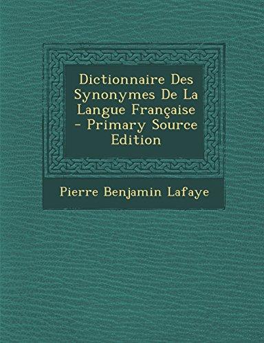 9781295383856: Dictionnaire Des Synonymes de La Langue Francaise