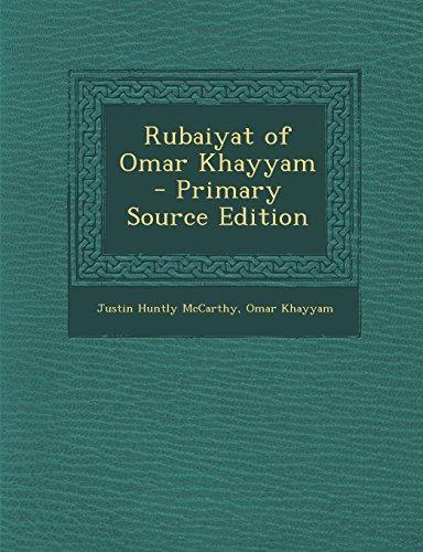 9781295410583: Rubaiyat of Omar Khayyam - Primary Source Edition