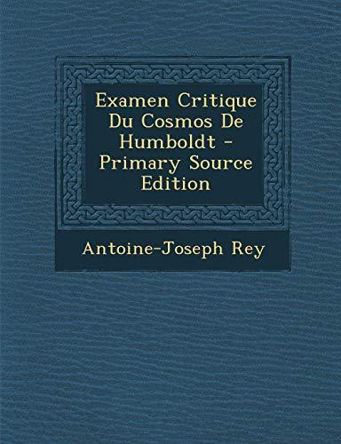 9781295475513: Examen Critique Du Cosmos de Humboldt