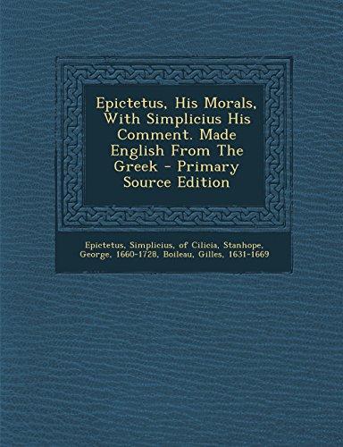 epictetus his handbook