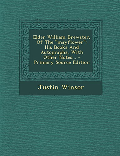 9781295489855: Elder William Brewster, Of The