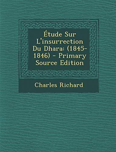 9781295549672: Étude Sur L'insurrection Du Dhara: (1845-1846) (French Edition)