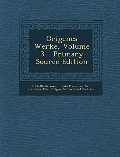 9781295555079: Origenes Werke, Volume 3